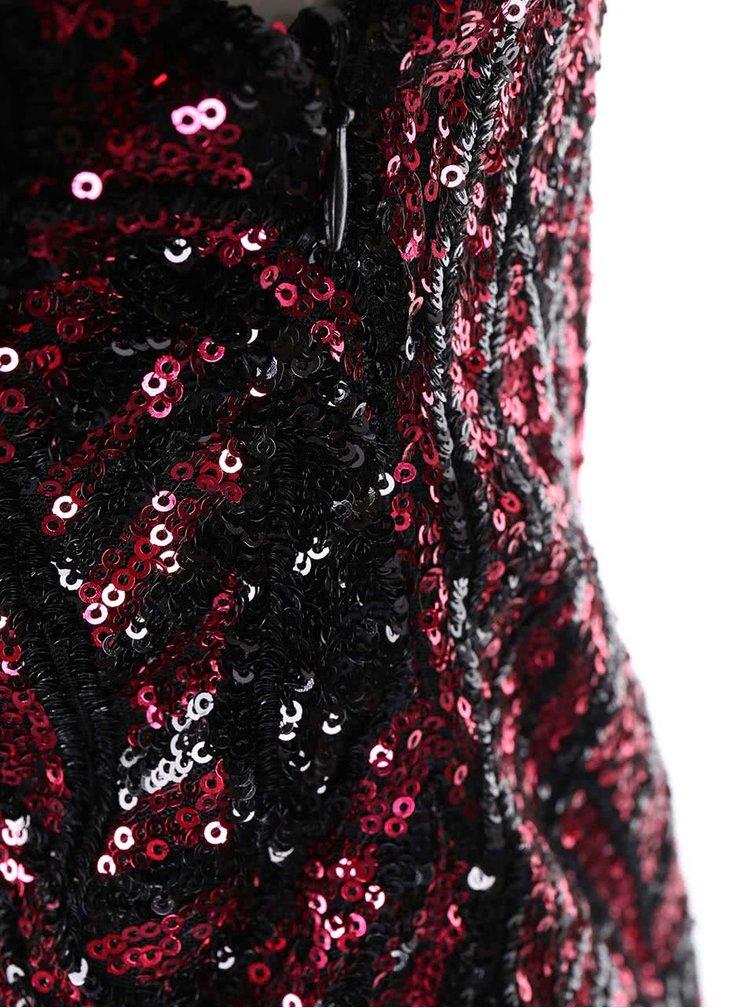 Čierno-ružové maxišaty Goddiva