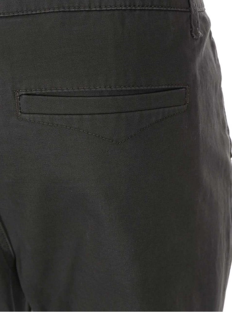 Pantaloni chino gri cu verde ONLY & SONS Cale