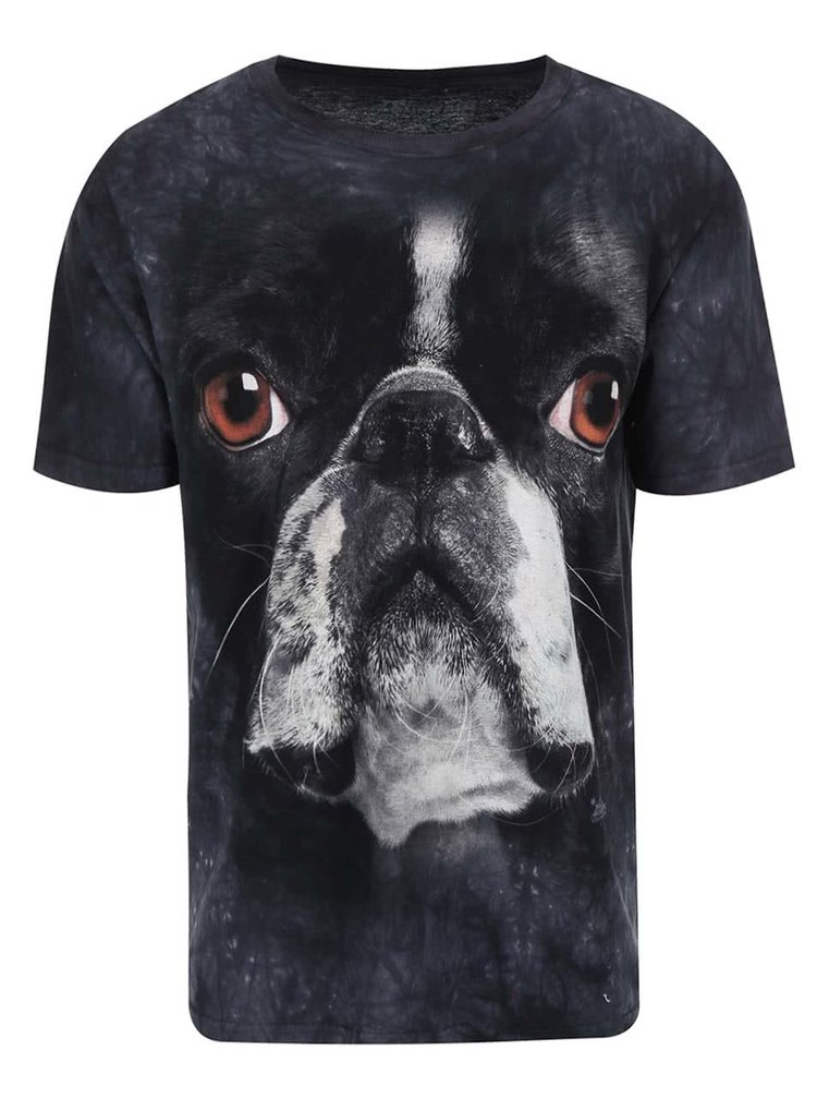 Tricou unisex Boston Terrier, de la The Mountain