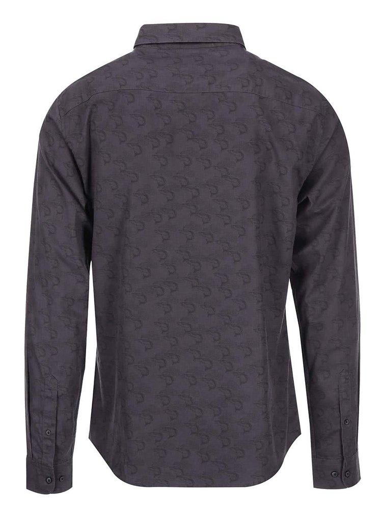 Fialovošedá džínová vzorovaná košile ONLY & SONS Christopher
