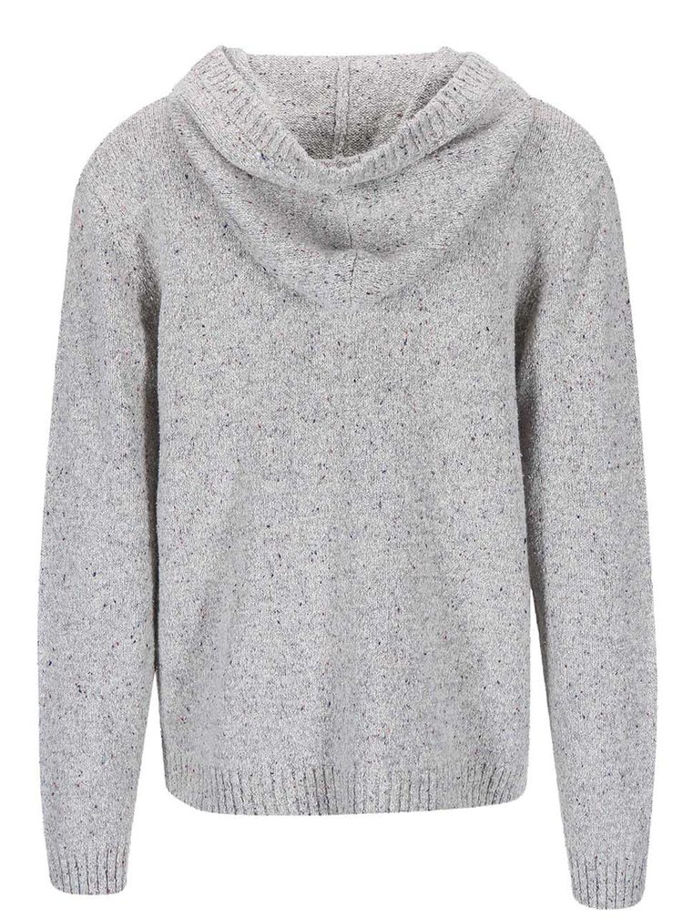 Svetlosivý sveter s kapucňou Quiksilver Tamworth