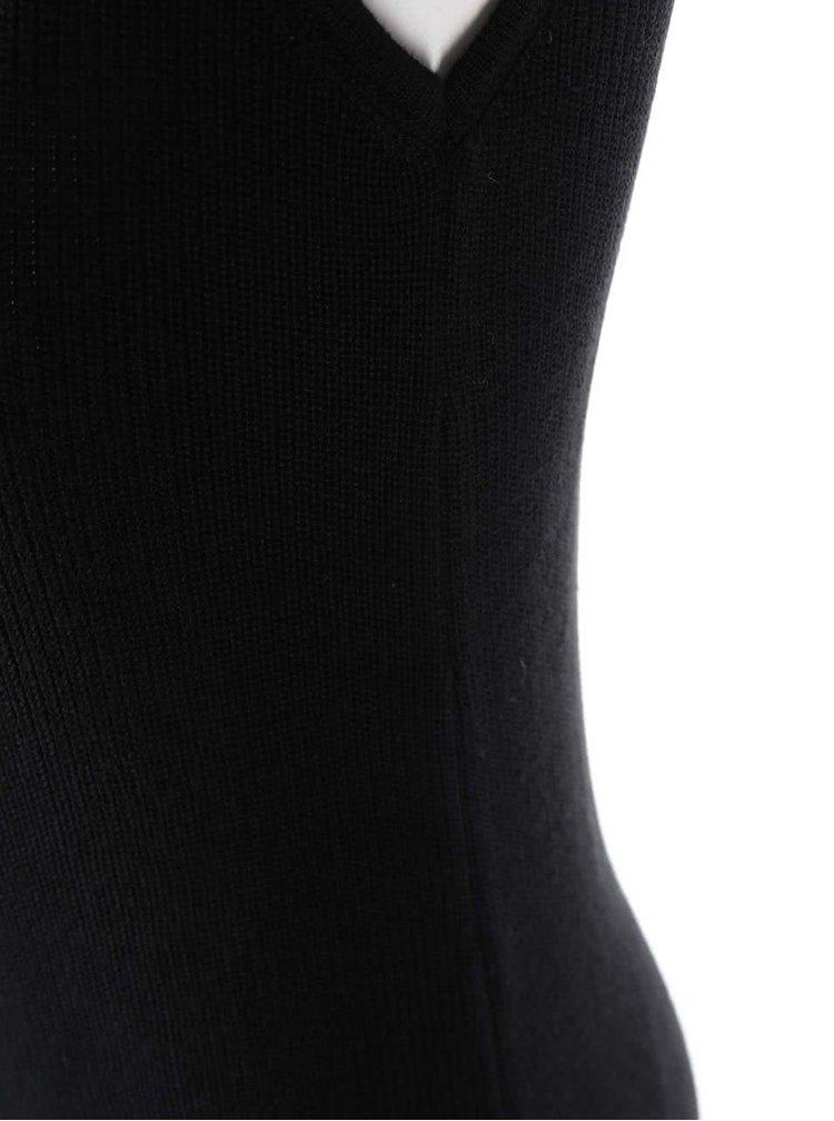 Černé šaty se šněrováním na boku Dorothy Perkins