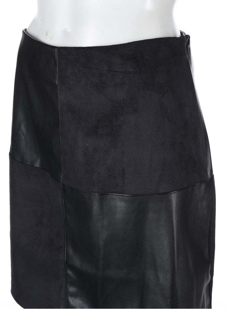 Čierna koženková sukňa Dorothy Perkins