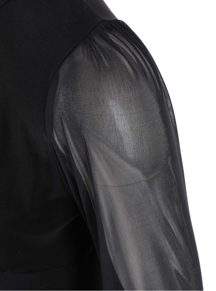 Černé šaty s šifonovými rukávy Dorothy Perkins