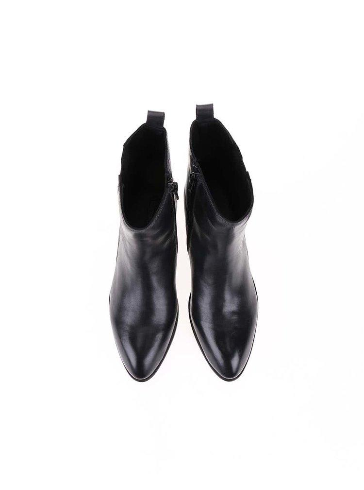 Cizme negre din piele Bugatti Tizi