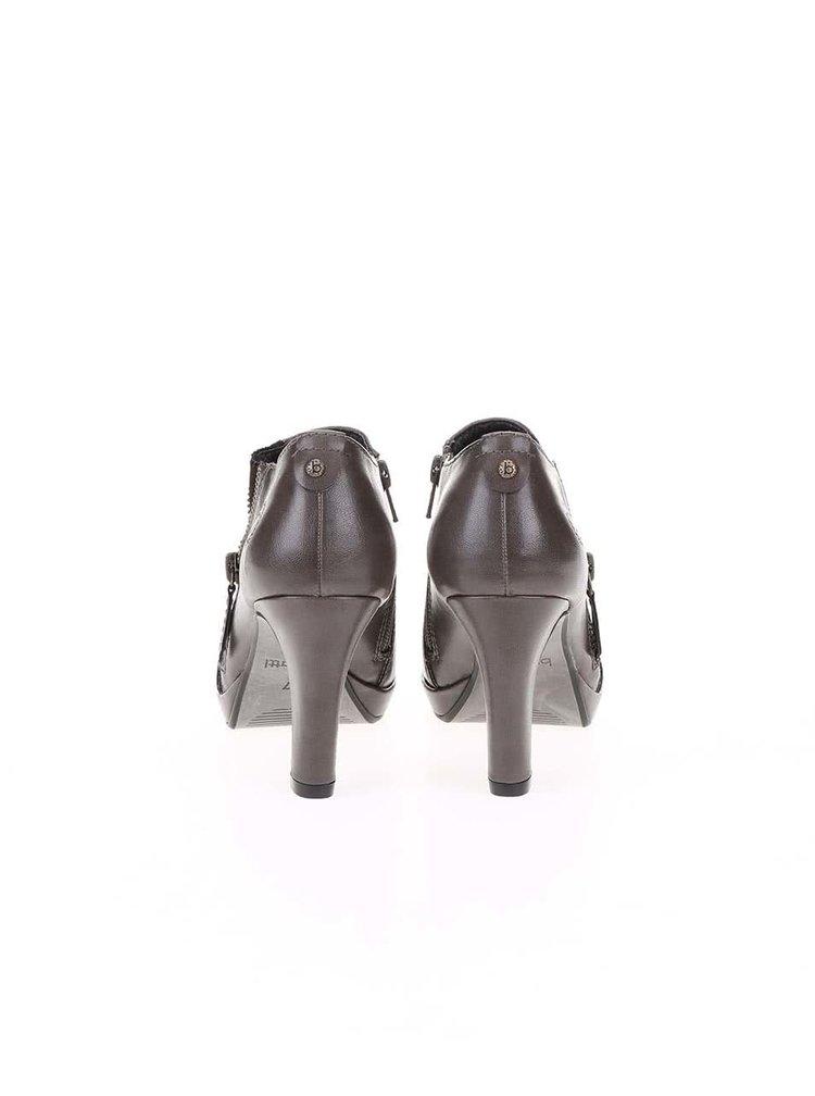 Hnědé boty na podpatku bugatti Haven