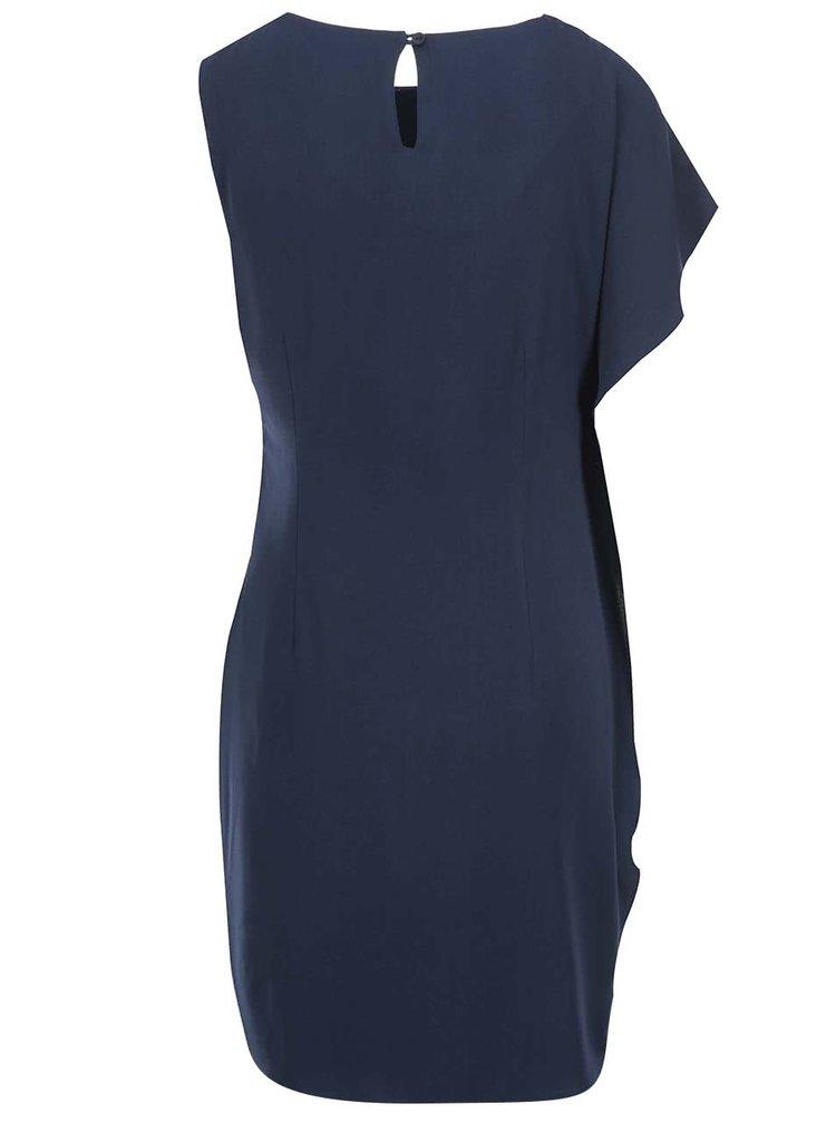 Tmavě modré asymetrické šaty VERO MODA Clara