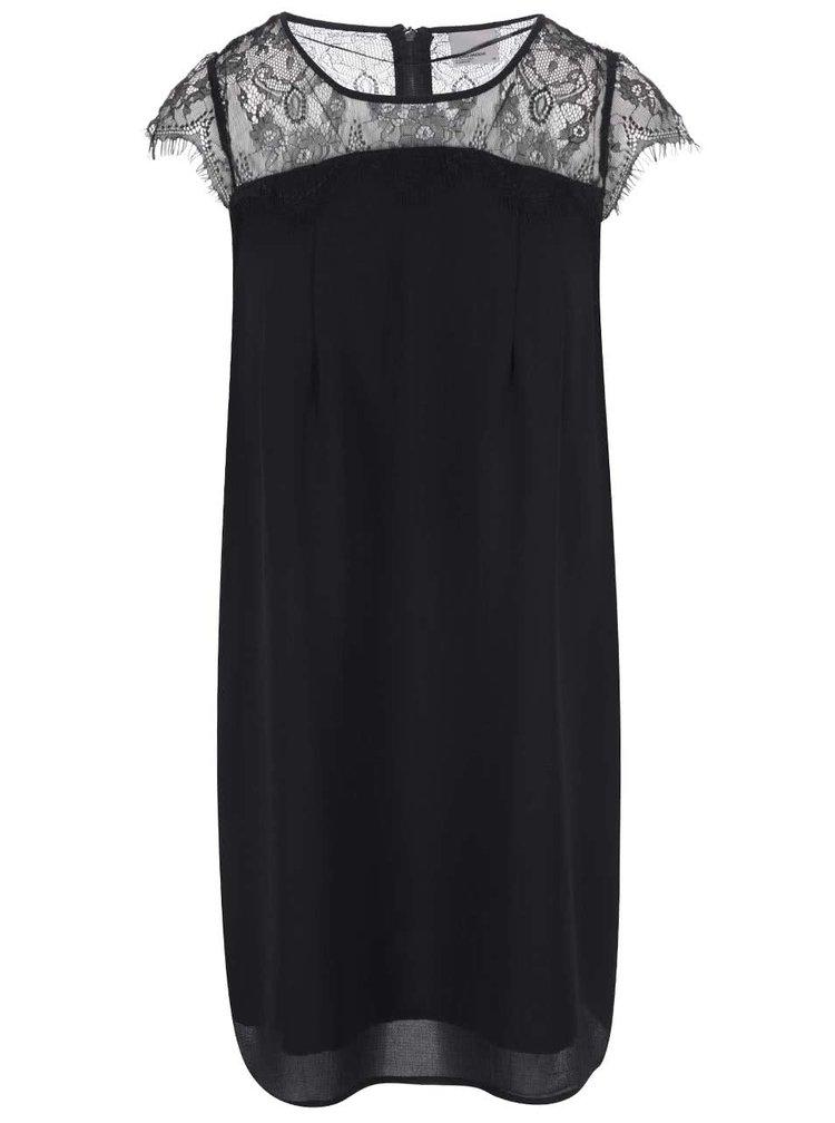 Černé šaty s krajkovými rameny VERO MODA Marie