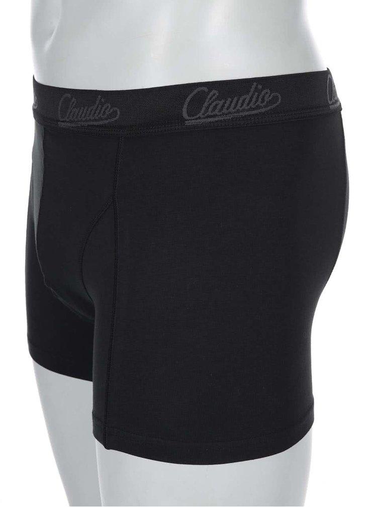 Set de două perechi de boxeri, în dungi, de la Claudio - negru, gri și negru