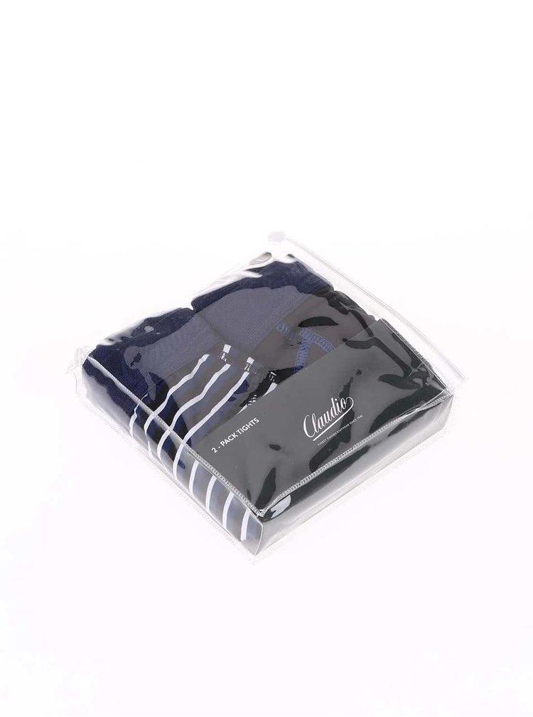 Kolekcia farebných pruhovaných a modro-čiernych boxeriek Claudio