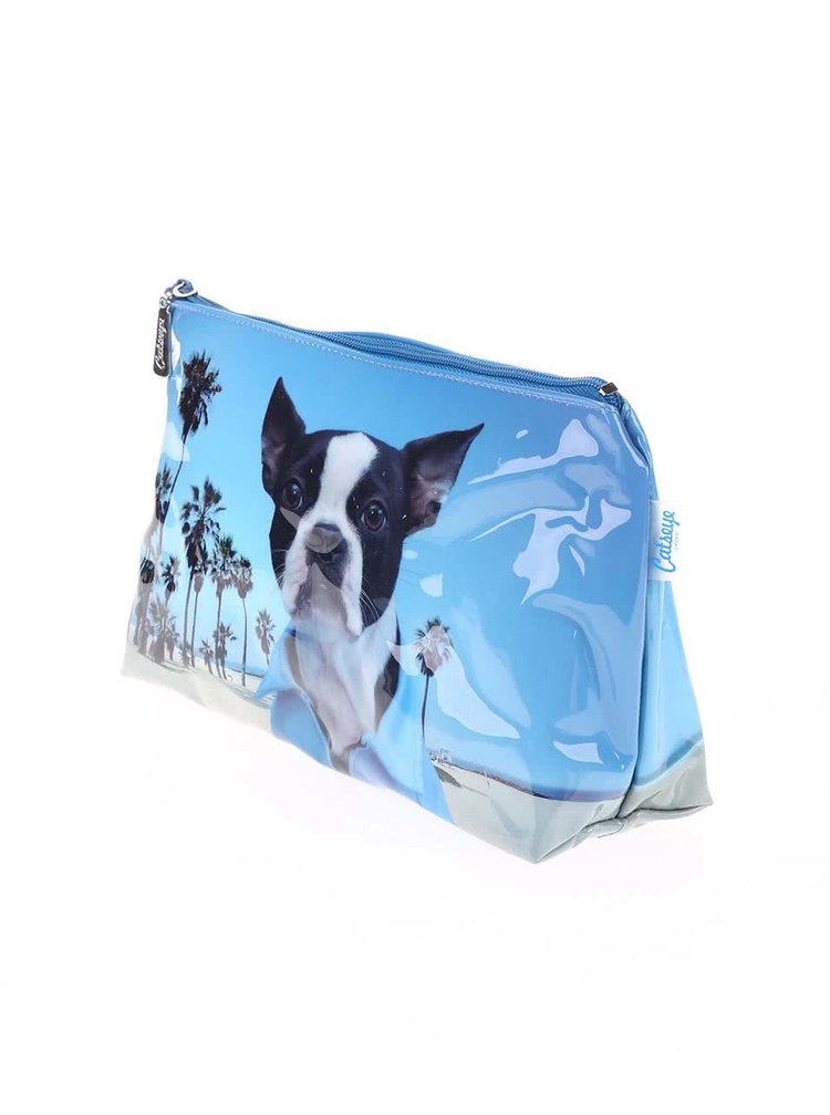 Modrá toaletní taštička se psem Catseye London Beach Dog