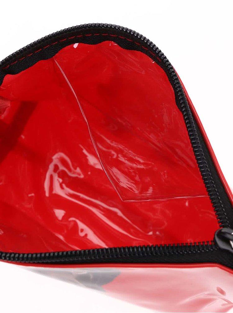 Červená kozmetická taštička Catseye London Black Lab