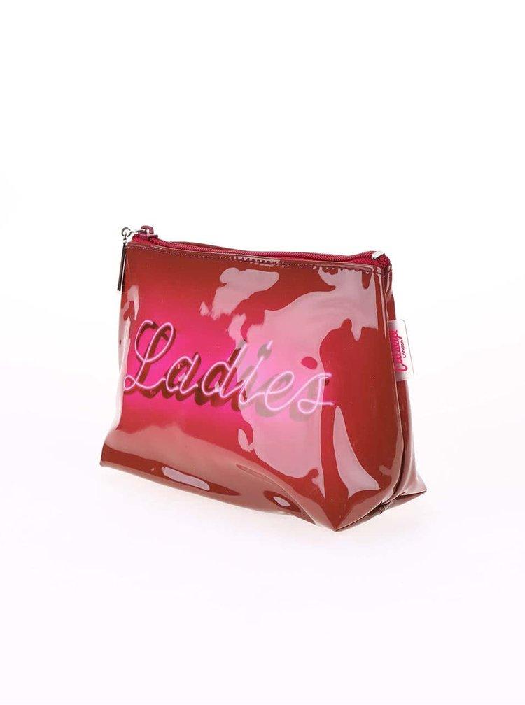 Růžová taštička na make-up Catseye London Ladies