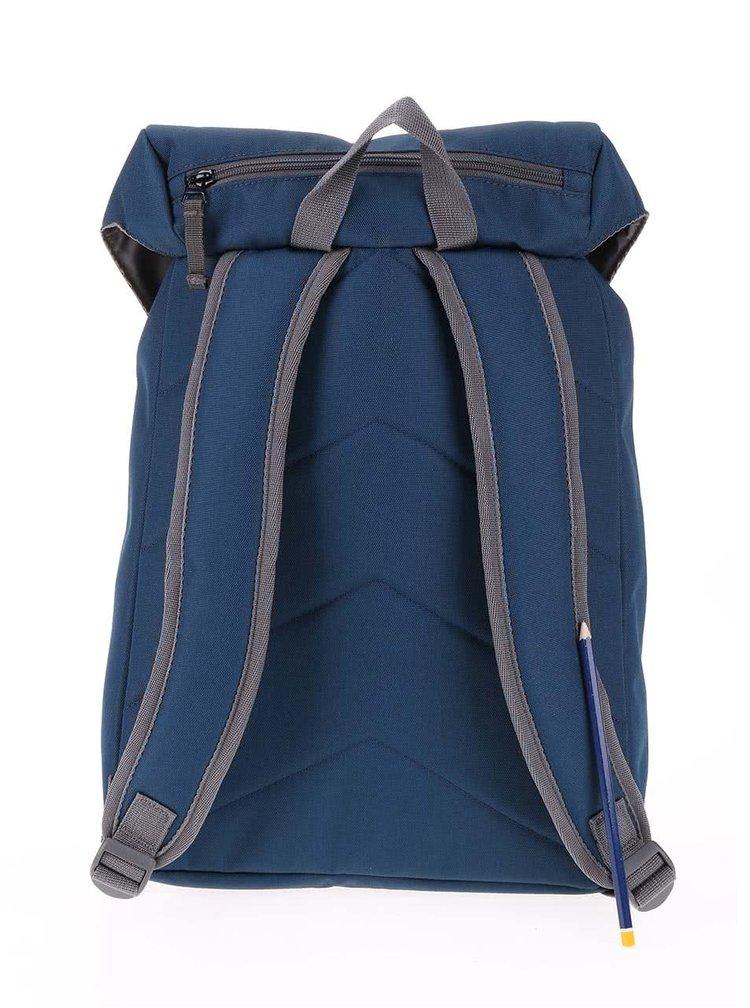 Šedo-modrý středně velký batoh s přezkami Ridgebake Hook