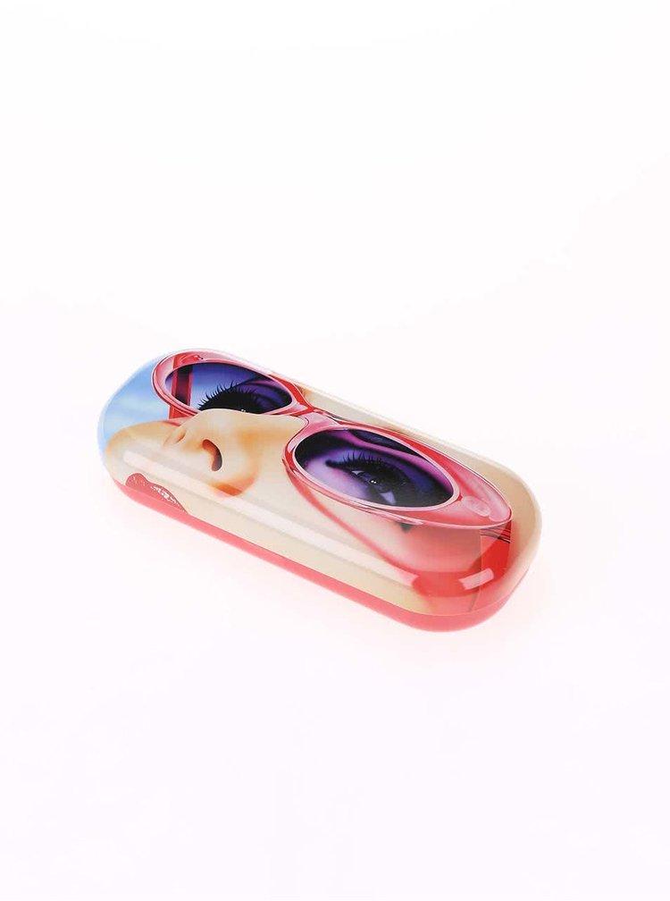 Červené pouzdro na brýle Catseye London Glam