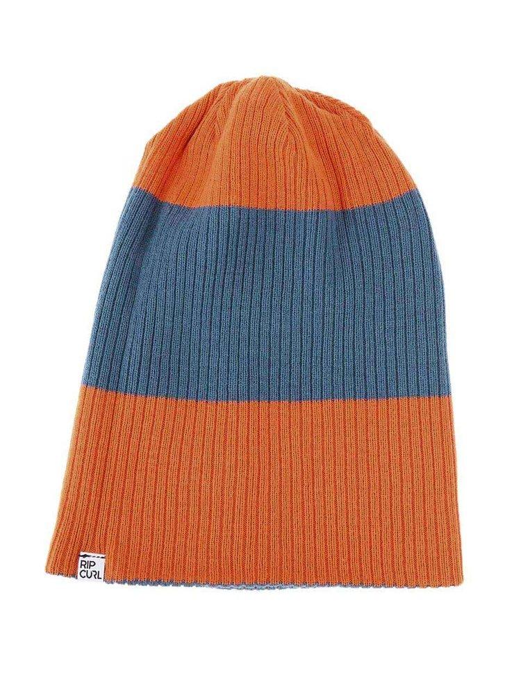Căciulă reversibilă, bărbați - Rip Curl Fjord - Albastru cu portocaliu