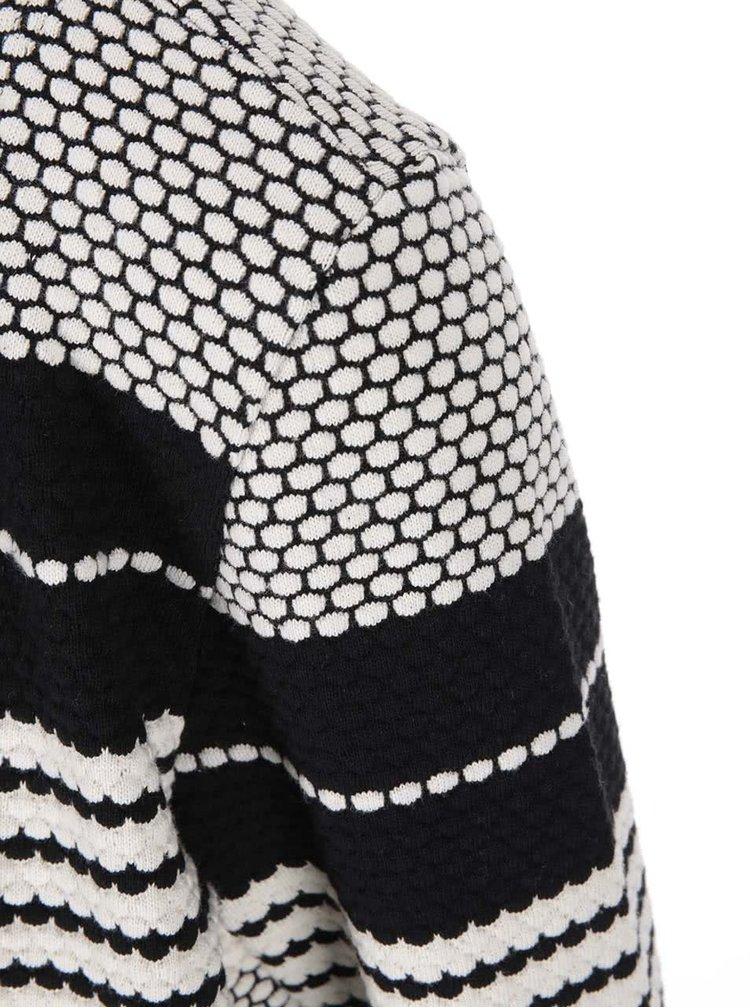 Krémovo-čierny pruhovaný kardigán ONLY Pearl
