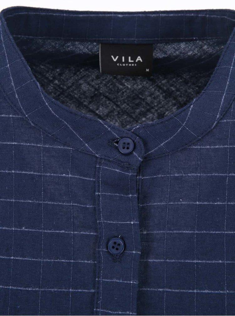Tmavomodrá voľnejšia košeľa VILA Calio