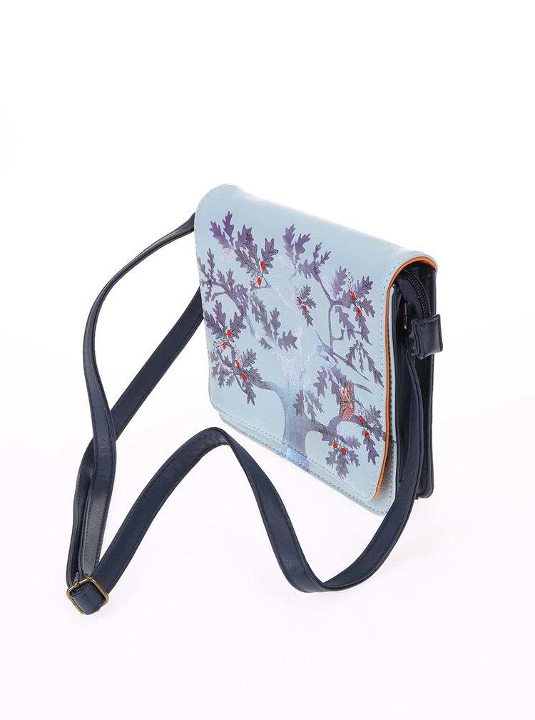 Modrá malá kabelka s potlačou Disaster Collective Noun