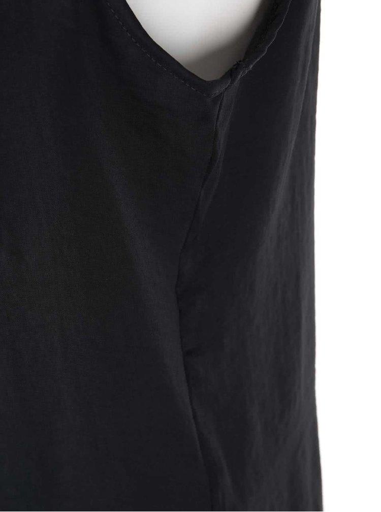 Bluză lejeră neagră fără mâneci VILA Melli