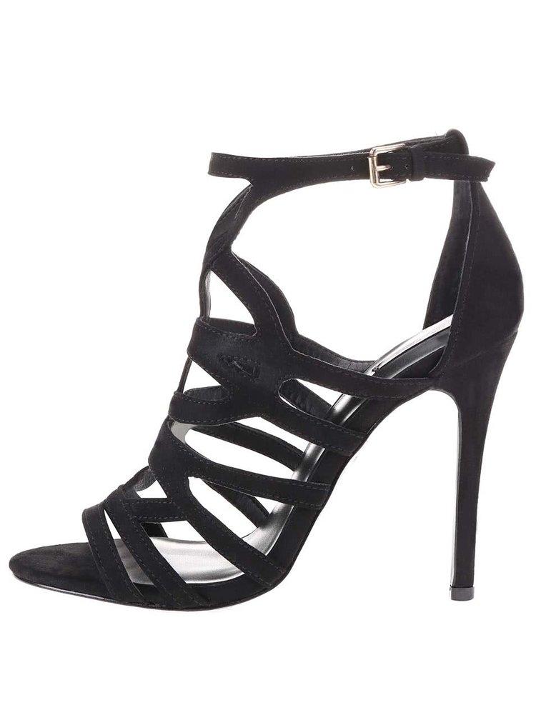 Černé páskové sandálky na vysokém podpatku ALDO Mattiace