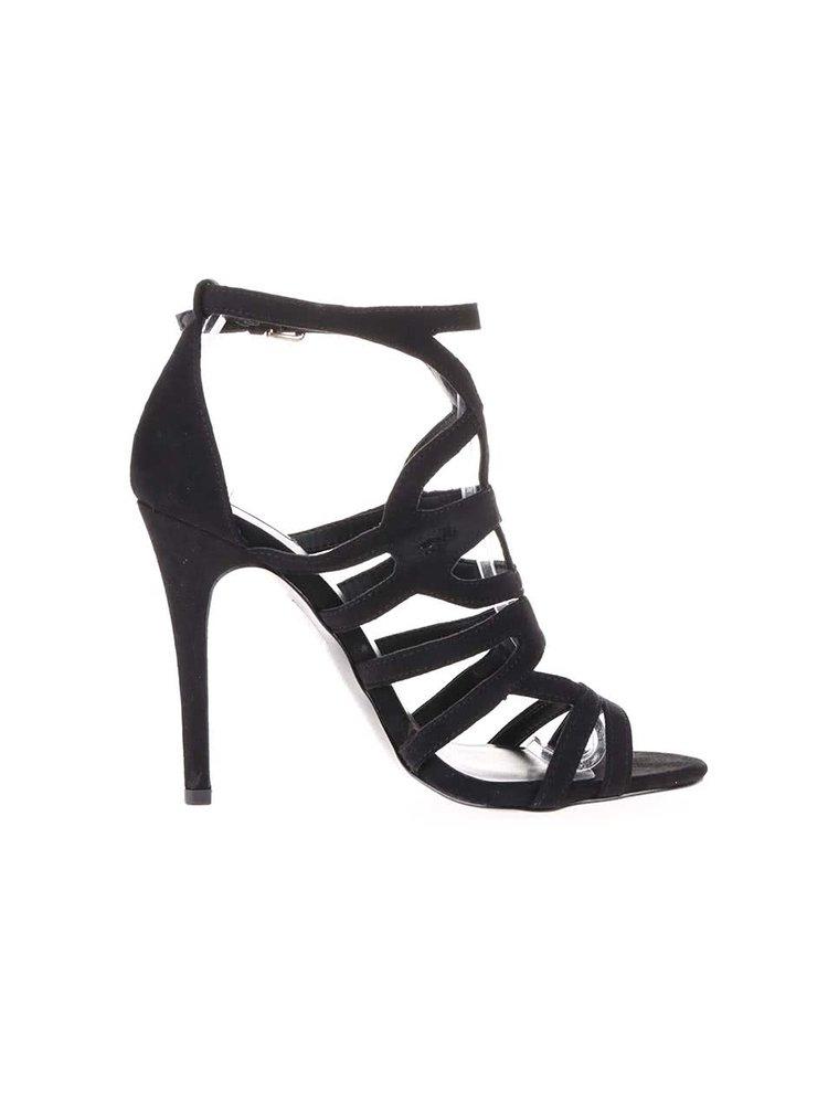 Čierne remienkové sandálky na vysokom podpätku ALDO Mattiace