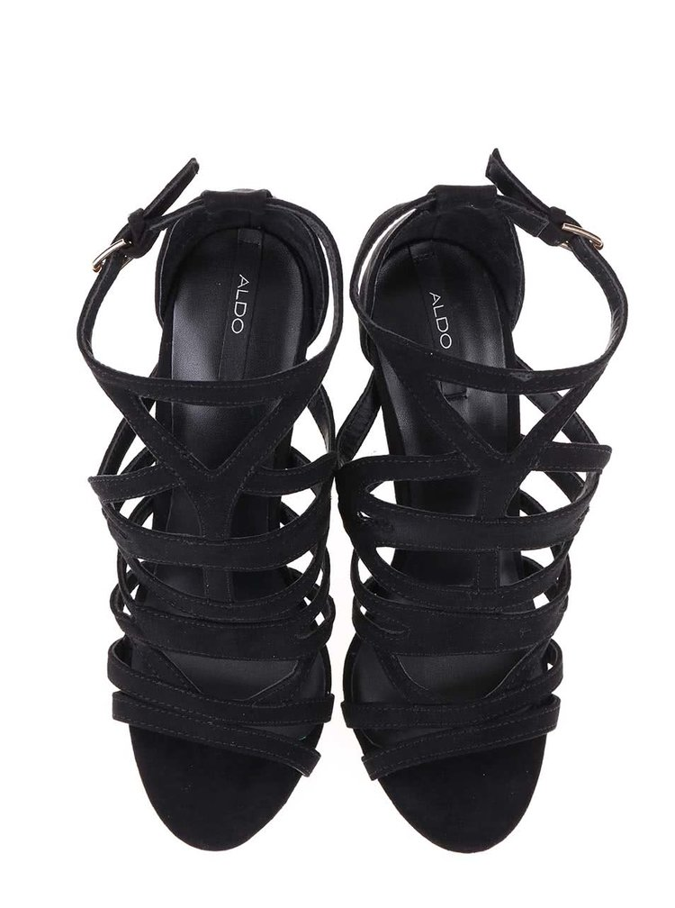 Sandale cu toc ALDO Mattiace negre