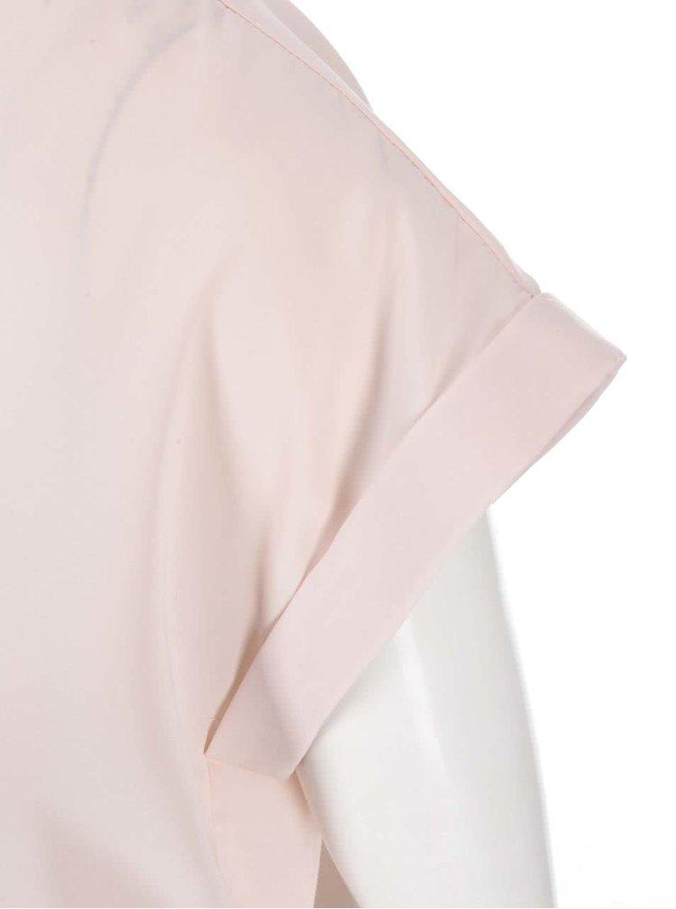 Ružový voľnejší top VILA Super