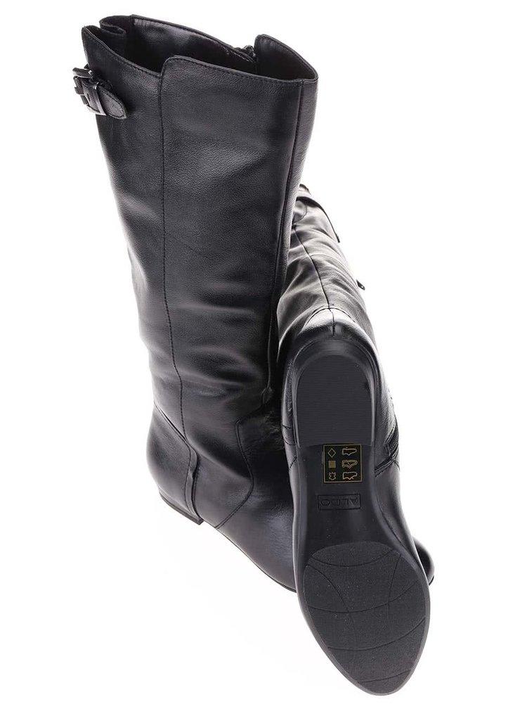 Čierne kožené čižmy ALDO Nizza