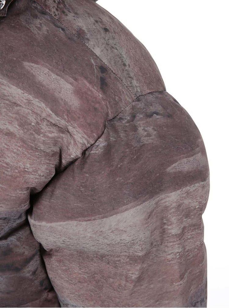 Hnědá vzorovaná zimní bunda Fat Moose Urban Heat