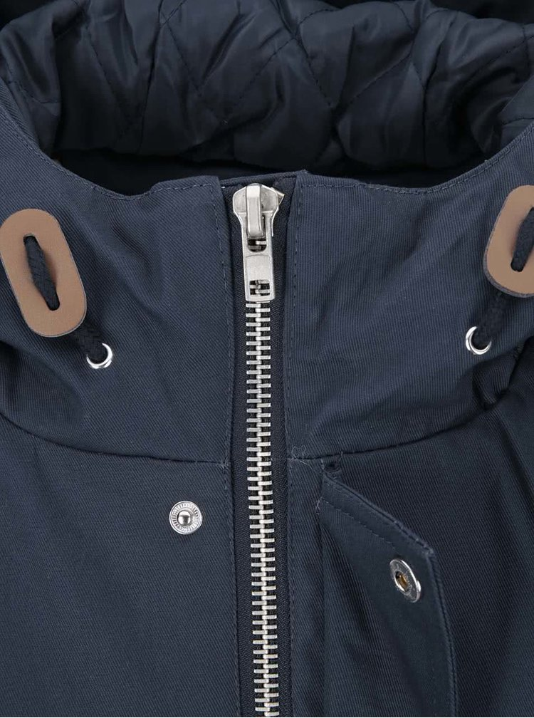 Tmavomodrá dlhšia zimná bunda Fat Moose Outskirts
