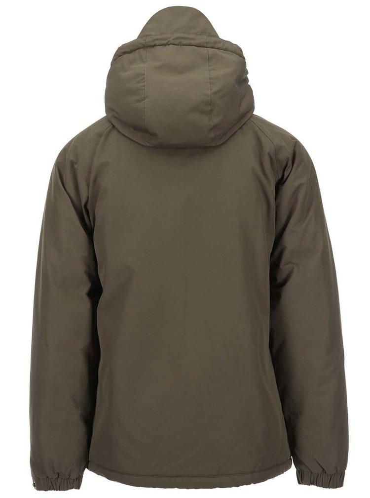 Kaki zimná bunda s kapucňou Fat Moose Trotter