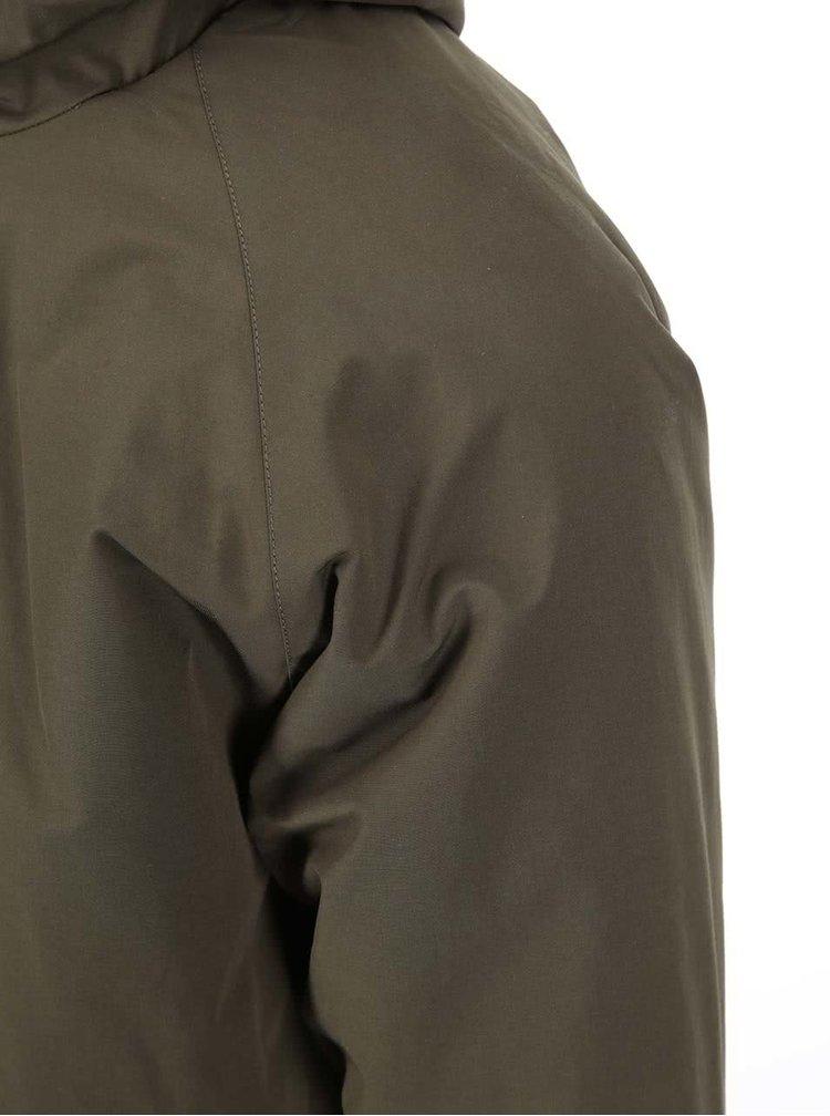 Khaki zimní bunda s kapucí Fat Moose Trotter