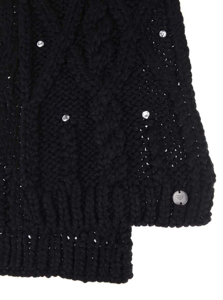 Fular Shooting Star negru cu ștrasuri de la Roxy
