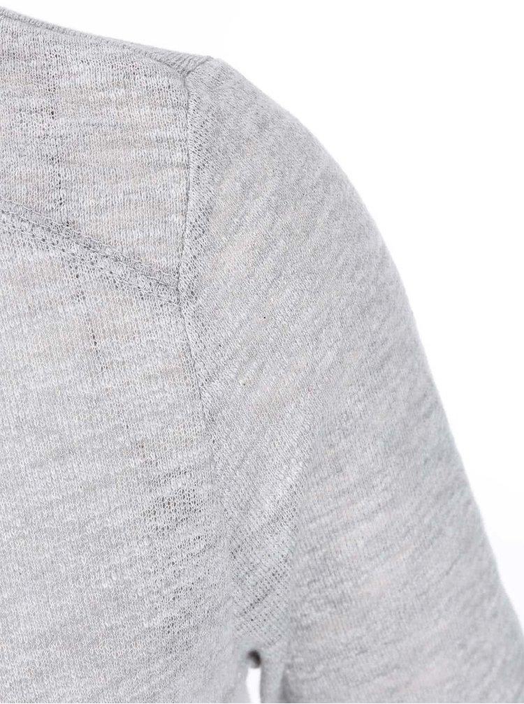 Šedé tričko s 3/4 rukávem ONLY Jess
