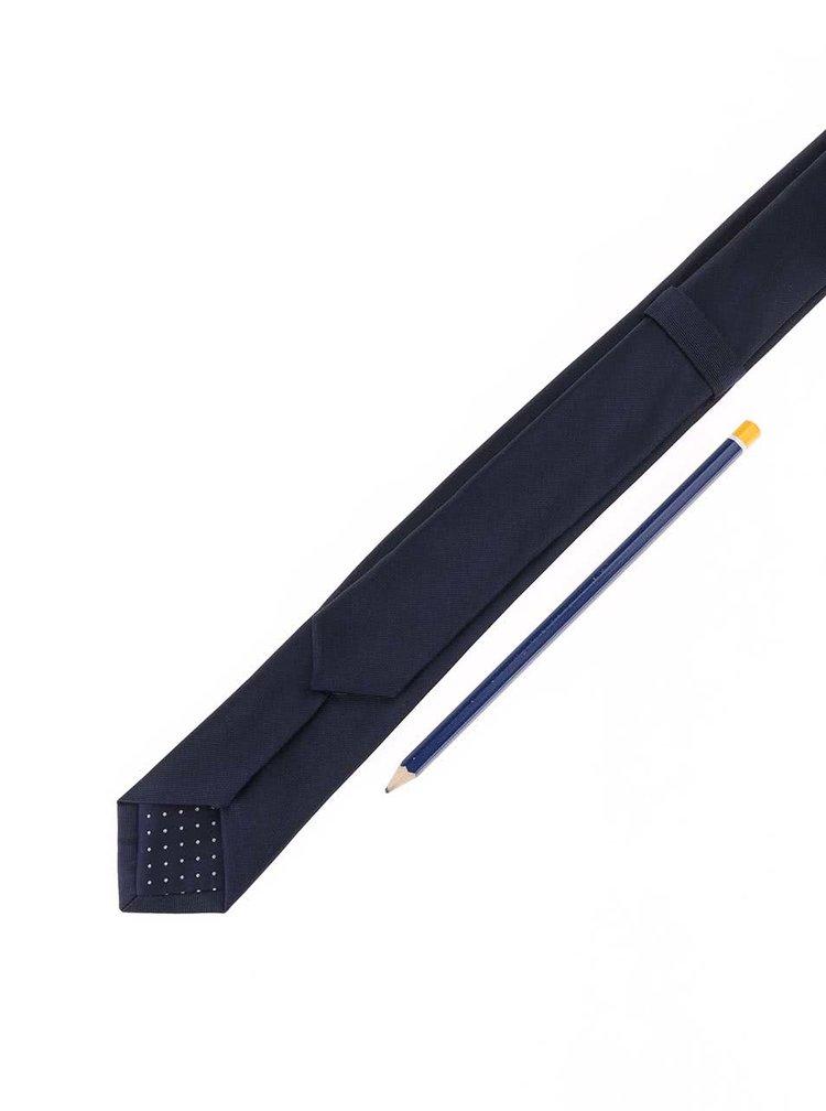 Cravata bleumarin din matase - Selected Homme Plain