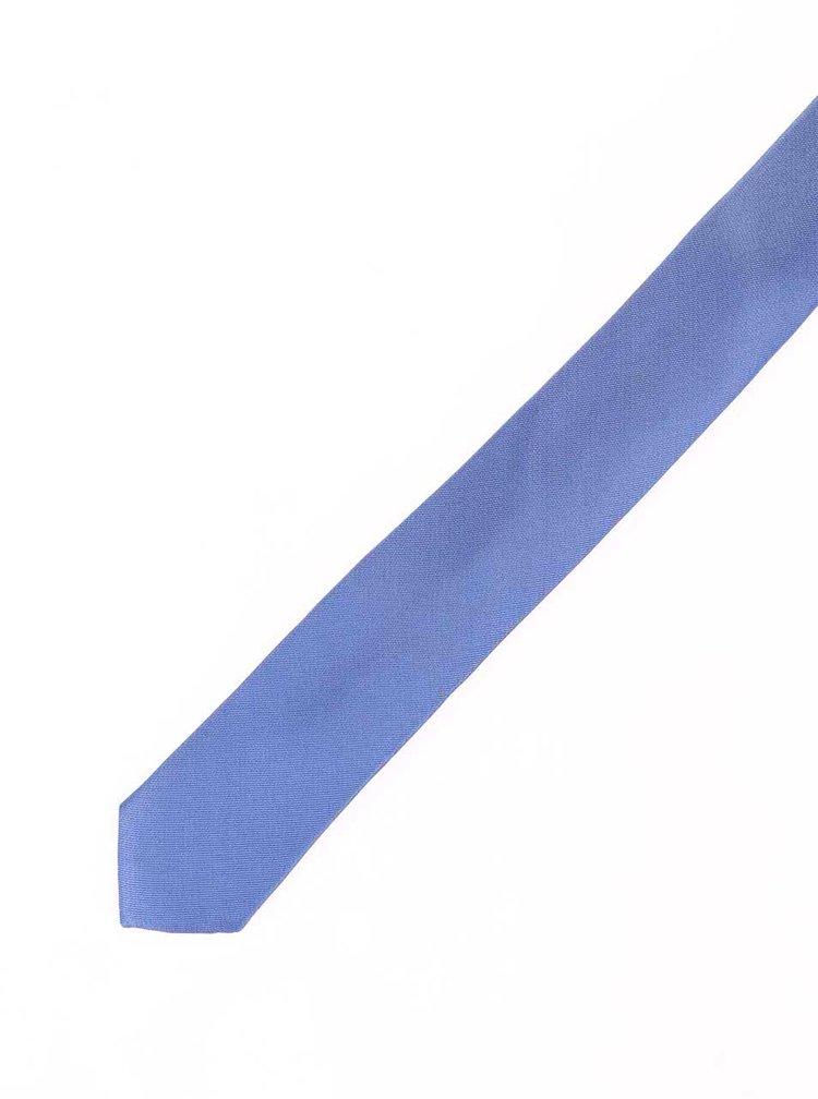 Cravata albastra din matase - Selected Homme Plain