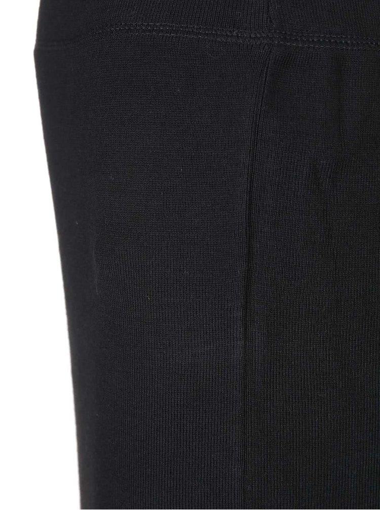 Čierna midi sukňa s trblietavým lemom Dorothy Perkins