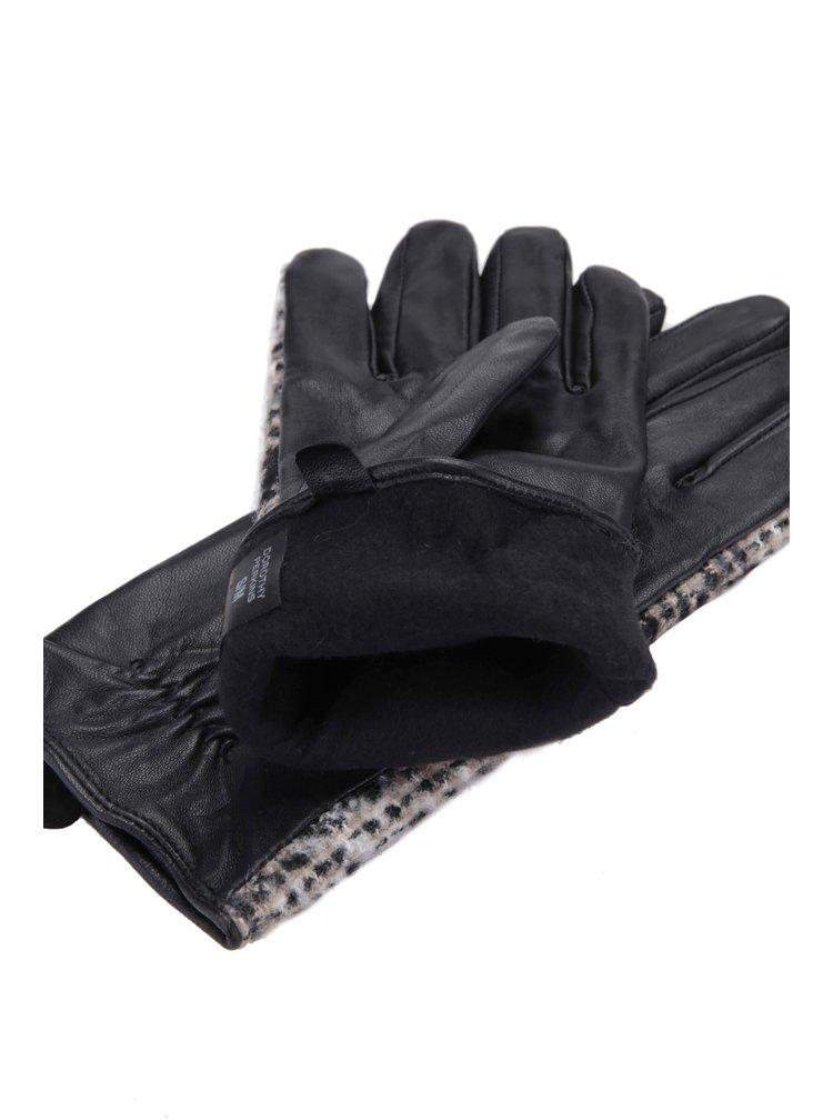 Mânuși negre cu imprimeu Dorothy Perkins
