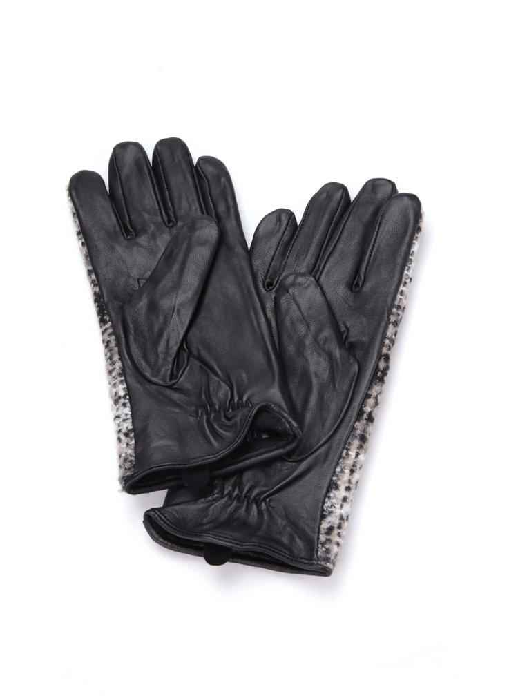 Čierne rukavice so vzorom Dorothy Perkins
