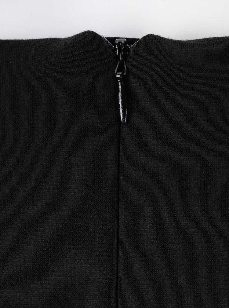 Šedo-černá sukně s rozparkem Dorothy Perkins