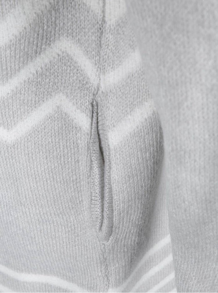 Světle šedý kardigan se vzorem Dorothy Perkins