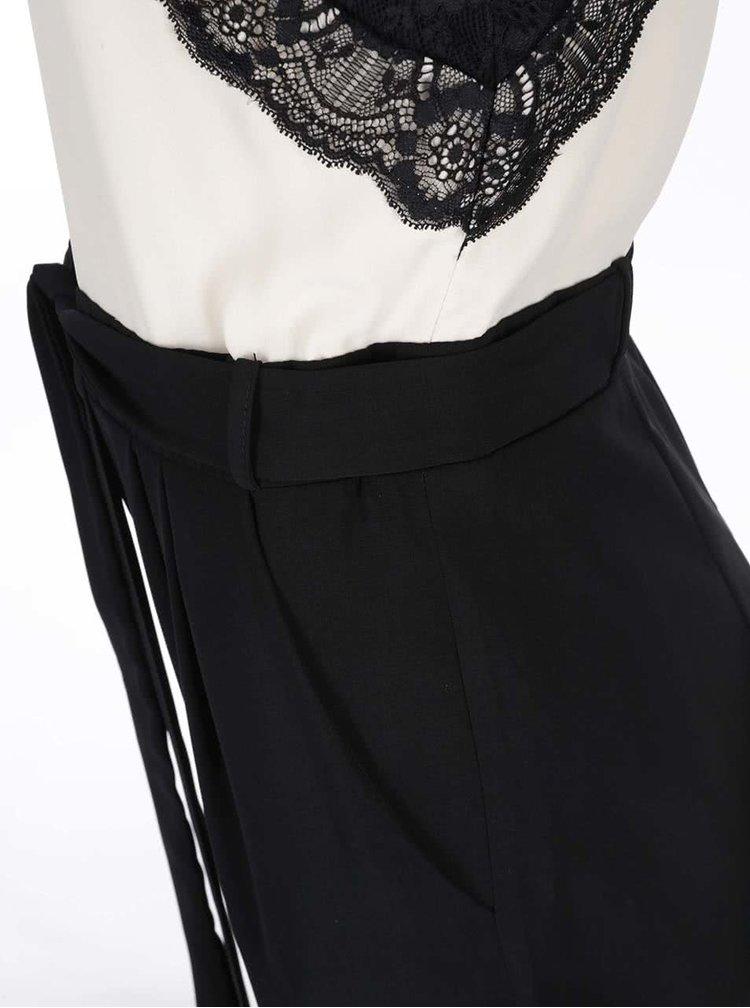 Čierno-krémový overal s detailom čipky Dorothy Perkins