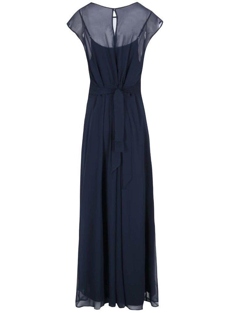 Tmavomodré šaty s opaskom Dorothy Perkins Curve