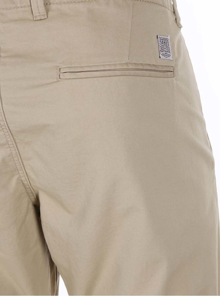 Pantaloni Cody bej model chino de la Jack & Jones