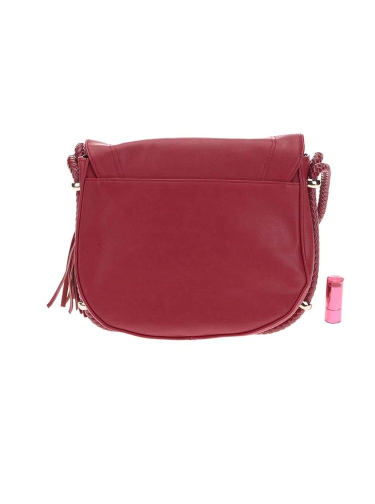 Červená menšia kabelka so strapcom Dorothy Perkins