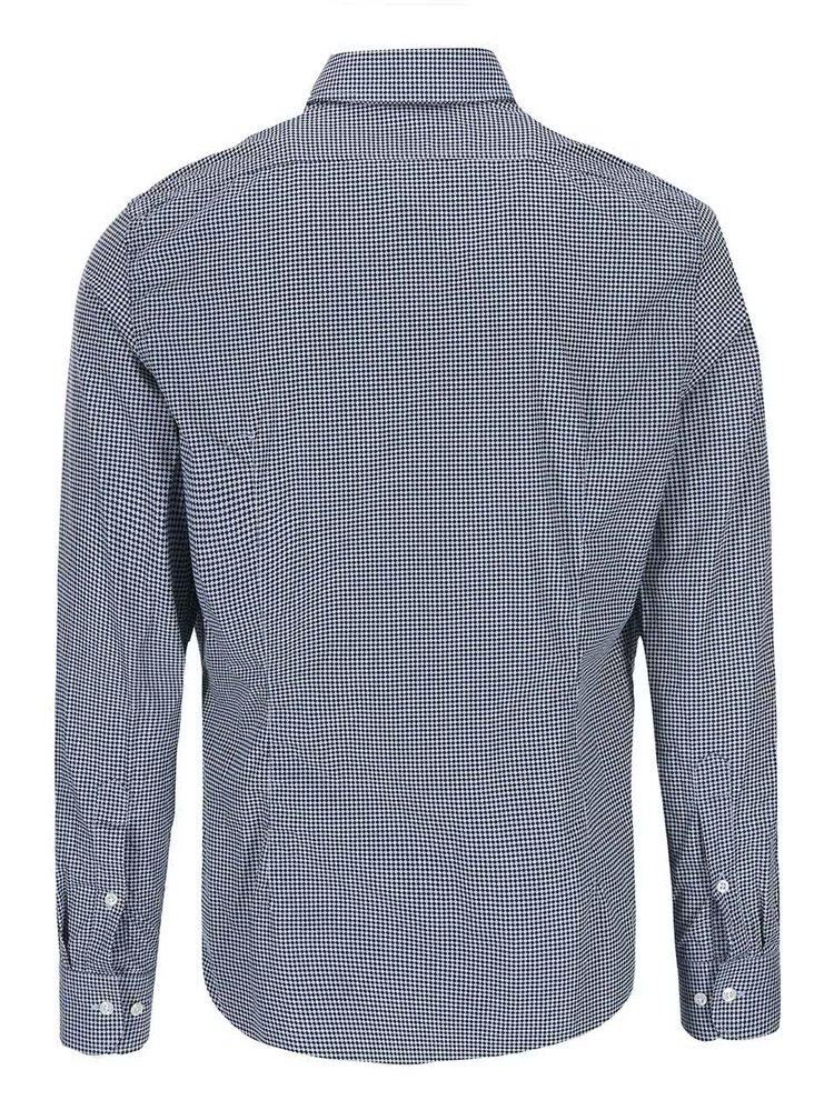 Tmavomodrá vzorovaná košeľa J.Lindeberg Dani