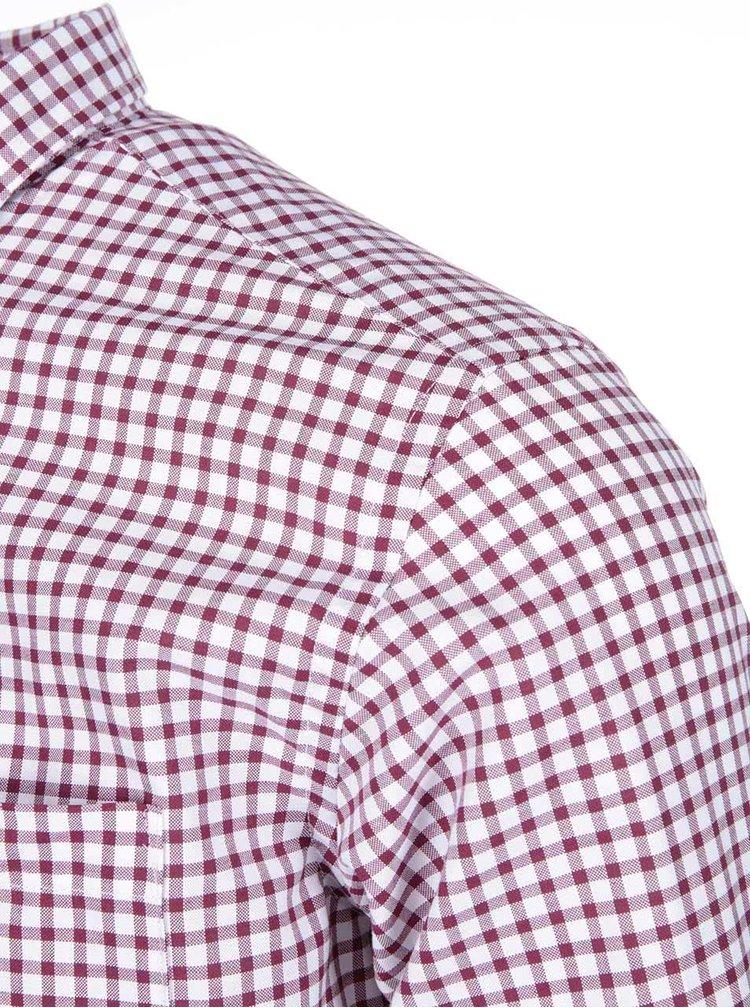 Bílo-vínová kostkovaná košile Selected Homme Two Coll