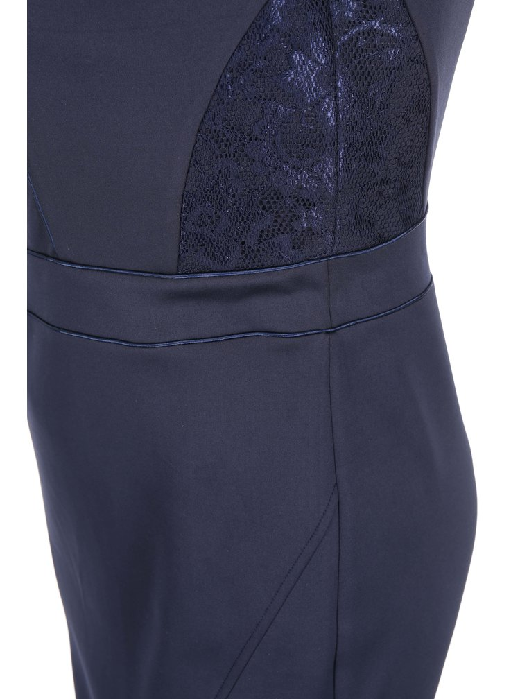 Tmavomodré lesklé šaty Dorothy Perkins Curve