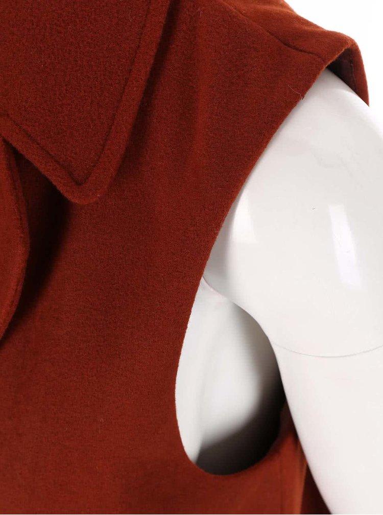 Cihlová kabátová vesta New Look